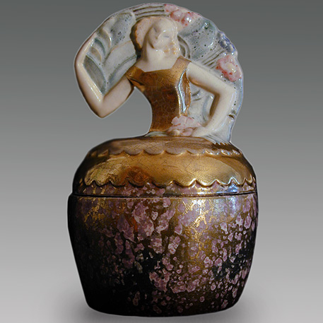French Art Deco Lidded Primavera jarReneissanceMan