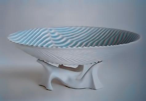 Louis-GOSSELIN ripple dish on stand