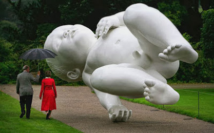 Marc-Quin-Planet monemental sculpture Chatsworth