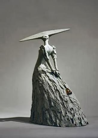 Philip Jackson---Un Ballo in Maschera sculpture of a lady in a along gown