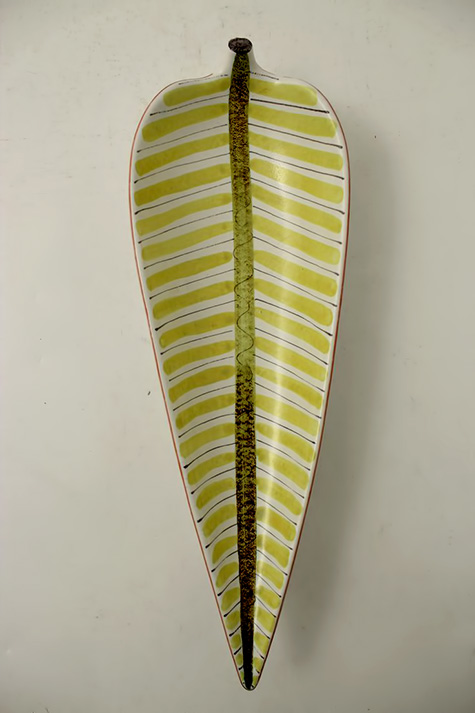 Stig Lindberg ceramic wall leaf