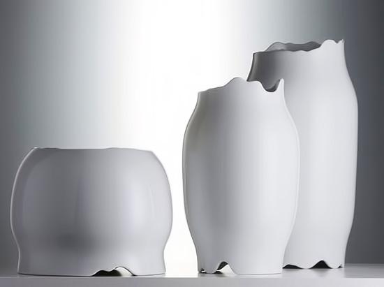 Patricia Urquiola-white porcelain contemporary vases