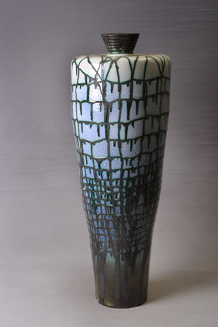 Reşat Kozhahmetov - Decorative Vessel drip glaze contemporary