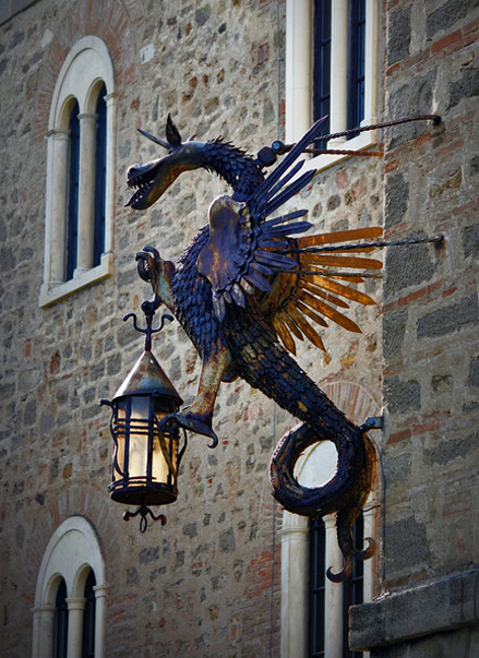 dragon street lamp