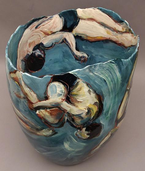 Diving,-red-earthenware-vessel.-Jitka-Palmer,-2012