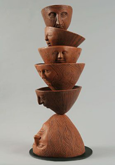 Liza-Halvorsen ceramic totem