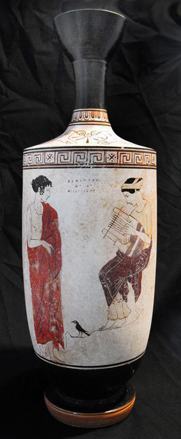 White-Ground-Lekythos-muse-on-mountain,-Achillies-painter,-c