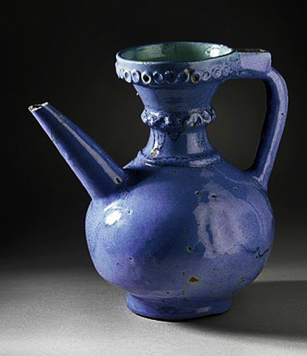 Blue Iranian wine ewer