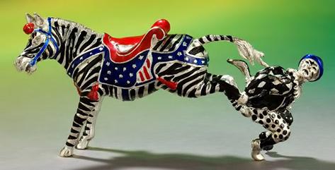Tiffany-co Clown and horse Figurine
