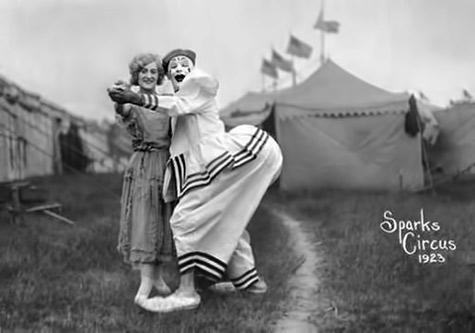 Sparks circus clown 1923