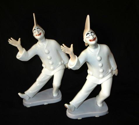 Bing & Grondahl-(B&G)-PIERROT CLOWN Porcelain Figurines