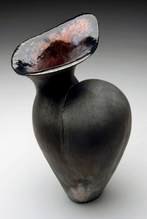 raku vase Caught Up In Clay - etsy