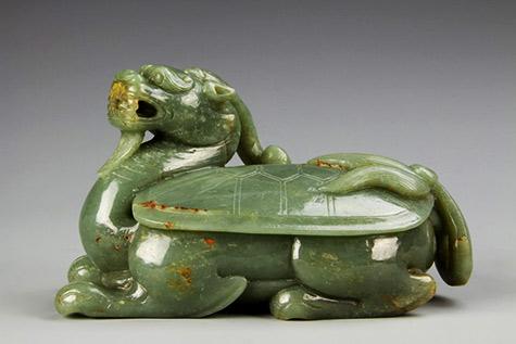Chinese-Antique-Jade-Dragon-Turtle