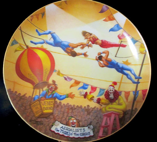 Circus-Plate-Aerialists-3rd-issue-from-Series--The-Greatest-Show-on-Earth-1981