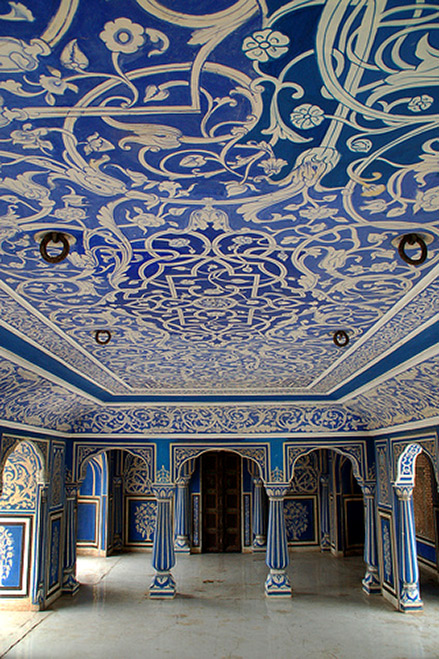 Jaipur tiled ceiling at the City Palace