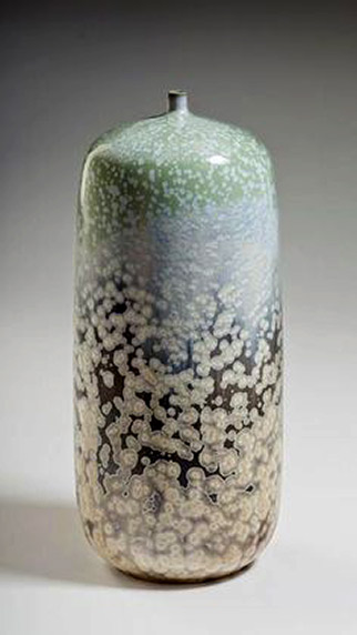 Robert Hessler---Crystalline glazed bottle