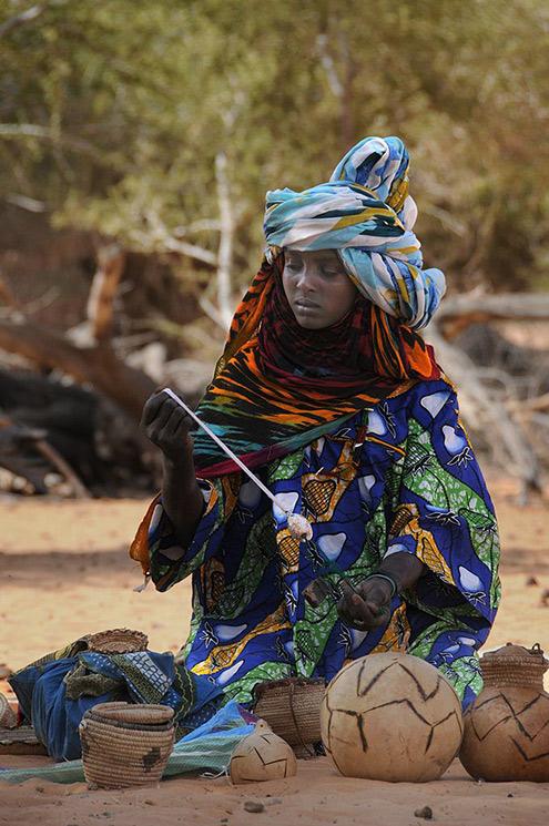 Adrica, Toubou woman souvenir seller. western Ennedi. Chad