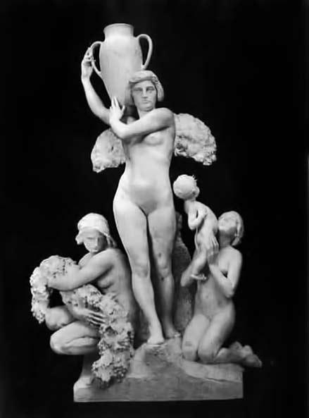 Furio-Piccirilli sculpture of an angel carrying a pot