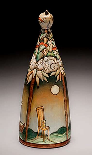 Terri-Kern ceramic bottle