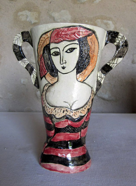 Lady-with-hat vase Jessie Mooy