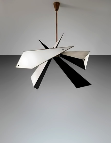 ANGELO-LELII-50's atomic ceiling lamp