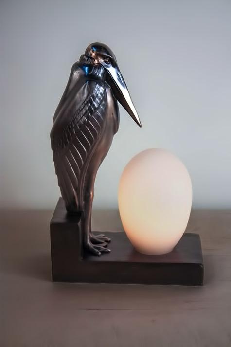 Art-Deco-Pelican-Lamp