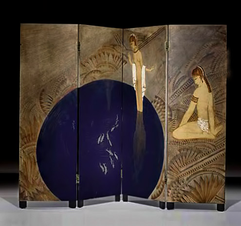 Art Deco multi panel screen