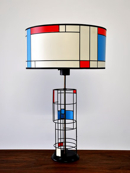 Ceramic table lamp ceramics and pottery arts and resources mid century modern mondrian table lamp by by aloadofball Images