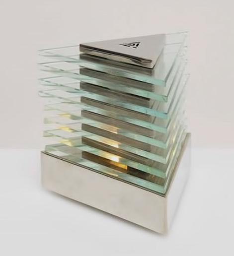 La Maison Desny art deco futuristic lamp
