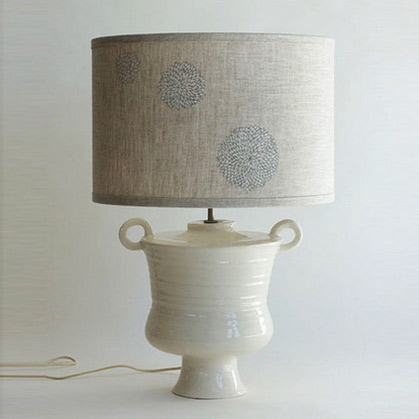 Twin handled White Cycladic Lamp---Frances Palmer Pottery
