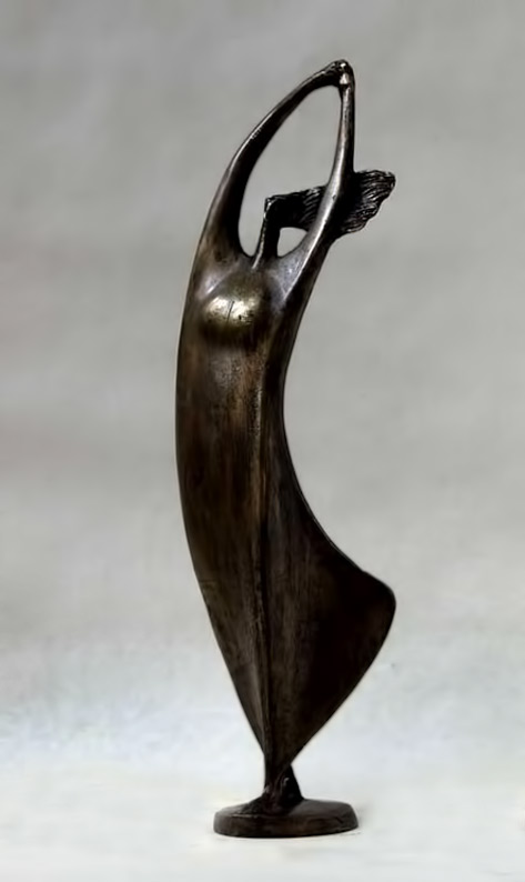 Abstract metal-sculpture of a dancing woman - Theodoros Papagiannis
