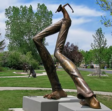 Monument in Right Feet Major---Todi Kurtzman large sculpture in park