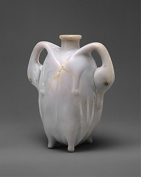 Egyptian footed Perfume Vessel in the Shape of Two Trussed Ducks-found in upper Egypt(Thebes) 17th Dynasty