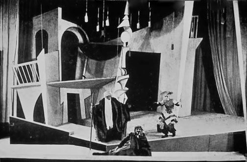 1921--Russian--cubo-futurist,-pre-constructivist-production-of-Turandot-at-the-MAT-(Studio)--directed-by-Yevgeny-Vakhtangov,-designed-by-Igor-Nivinsky