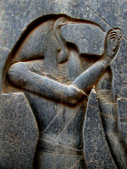 Sunken relief of Thoth-Luxor_temple_photo-John Bodsworth