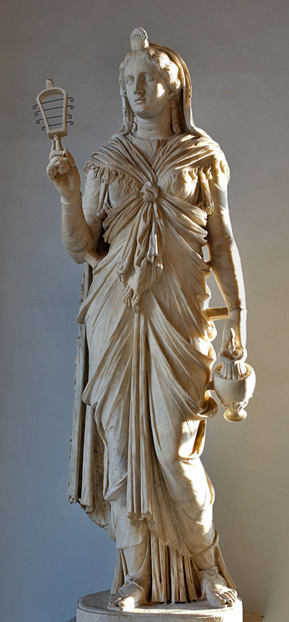 Isis_Musei Capitolini_Roman-Isis holding a sistrum and oinochoe and wearing a garment tied-with-a-characteristic-knot