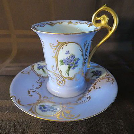 Antique-Rosenthal-RC-Fancy-Cup-Saucer-Violets