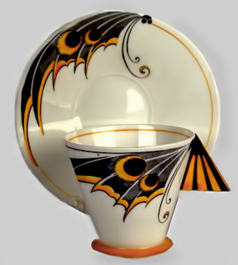 Art-Deco-Shelley-moth-wing-cup-and-saucer