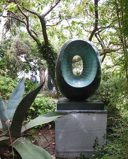 Barbara Hepworth's Garden, St-Ives-daveserjeant on Flickr abstract sulpture black and teal