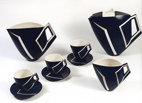 Function Dk Blue Optical Jonathan Middlemiss Black And White Tea Set