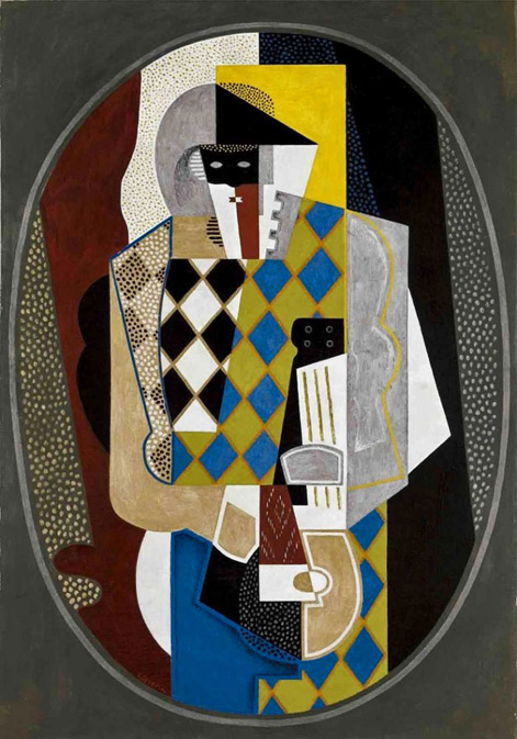 Gino Severini - Harlequin-and-the-Mandolin,-1919,-oil-on-canvas,-private-collection