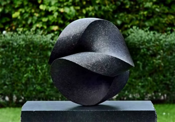 Jens-Ingvard-Hansen.-Otolith abstract garden sculpture