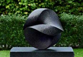 Jens-Ingvard-Hansen.-Otolith abstract garden sculpture