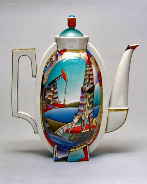 Lomonosov Teapot-'Legend Return'---Contemporary- Porcelain