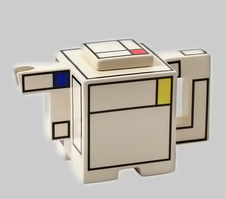 Geometric Mondrian Tea-Pot