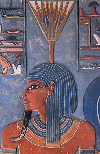 Nefertem,-Egyptian-Deities,-god-of-healing-and-beauty,-symbol-of-fragrance-and-water-lily,-son-of-Ptah-and-Sekhmet