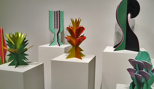 "Giacomo-Balla-Sculpture""Il Giardini Futurista,"" installation view, at Galerie Nordenhake in Berlin, 2003 -futurist flower sculptures"