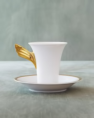 Rosenthal-Versace gold wing and white teacup