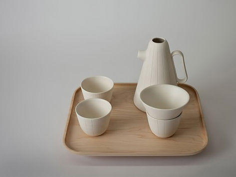 Contemporary Sucabaruca tea set by Luca Nichetto