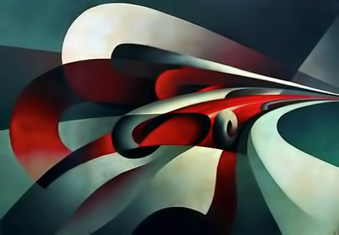 Futurist painting The Strength of the Curve- Tullio Crali,-1930
